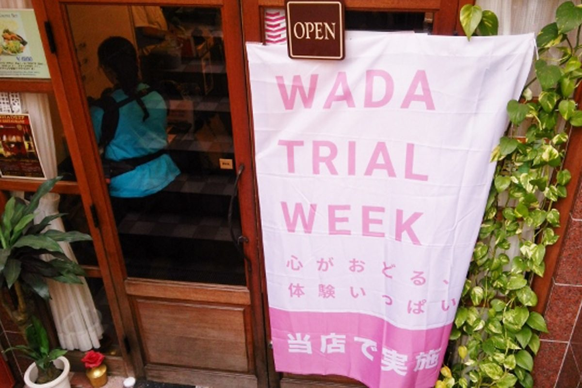 WADA TRIAL WEEKフラッグ