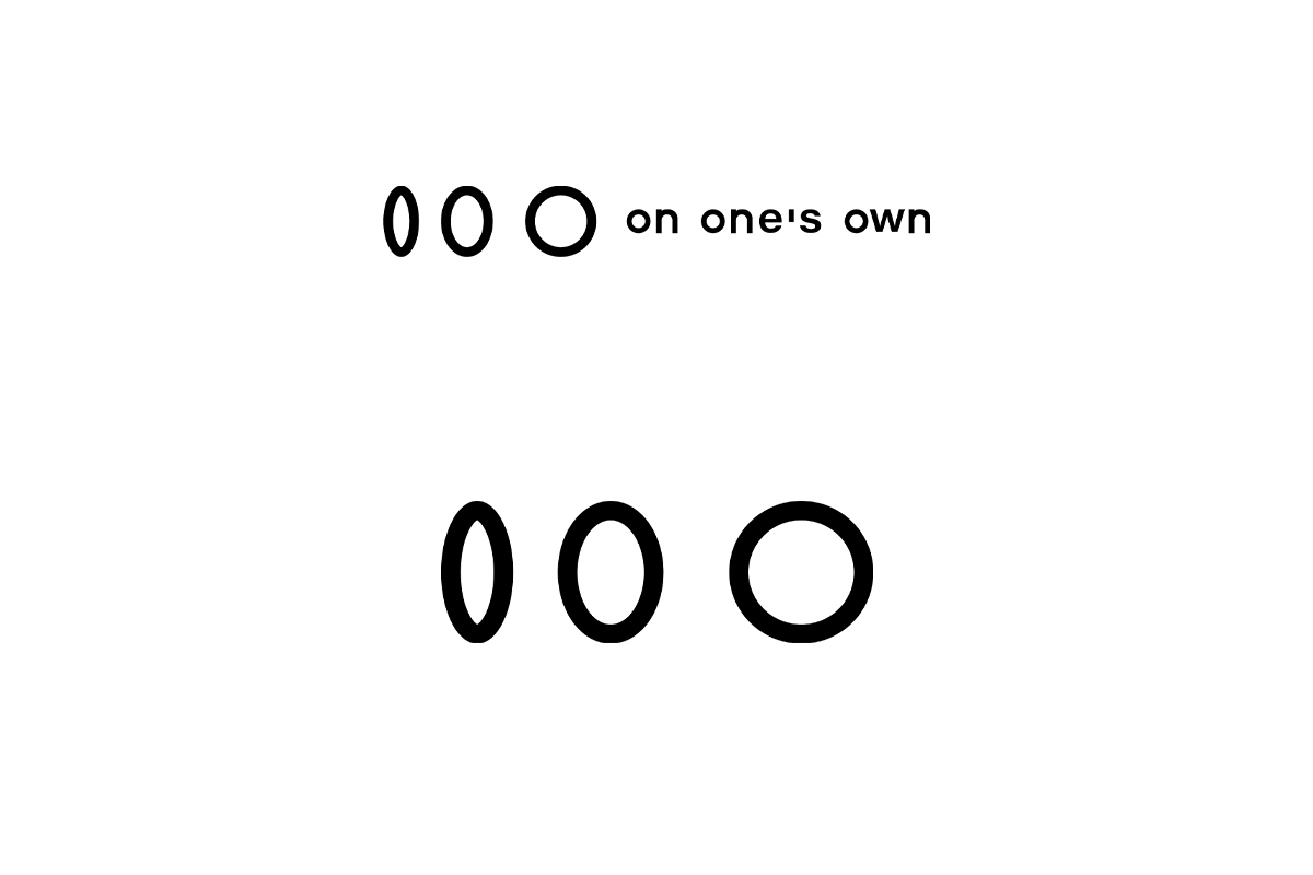 on one's ownのロゴ